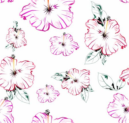 simsearch:400-04744132,k - Seamless vector retro pattern with flowers illustration Stock Photo - Budget Royalty-Free & Subscription, Code: 400-04719186