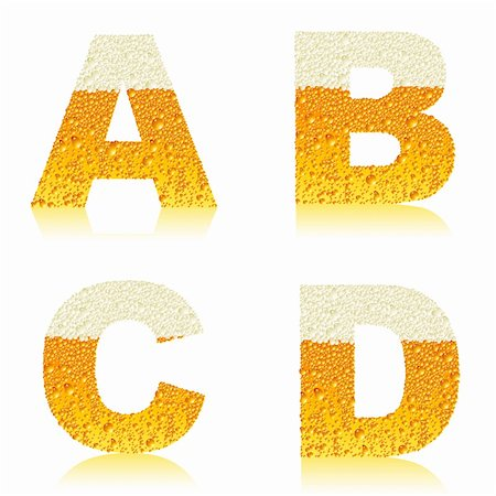 alphabet beer, this  illustration may be useful  as designer work Stock Photo - Budget Royalty-Free & Subscription, Code: 400-04719326