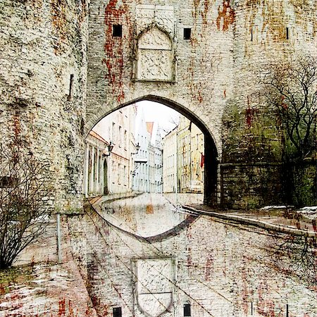 art background ancient architecture In style of an old picture artistic toned picture in retro style Stock Photo - Budget Royalty-Free & Subscription, Code: 400-04710882
