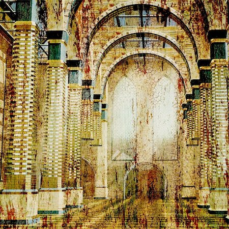 art background ancient architecture In style of an old picture artistic toned picture in retro style Stock Photo - Budget Royalty-Free & Subscription, Code: 400-04710883
