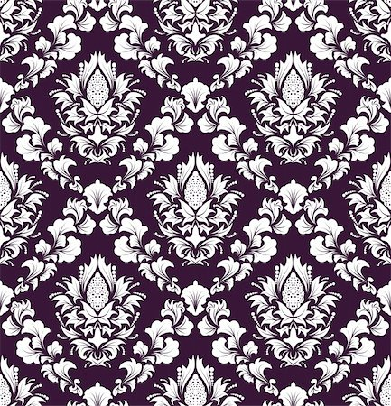 Damask seamless vector background.  For easy making seamless pattern just drag all group into swatches bar, and use it for filling any contours. Stock Photo - Budget Royalty-Free & Subscription, Code: 400-04711117