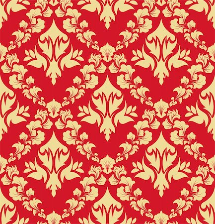Damask seamless vector background.  For easy making seamless pattern just drag all group into swatches bar, and use it for filling any contours. Stock Photo - Budget Royalty-Free & Subscription, Code: 400-04712184