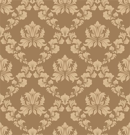 Damask seamless vector background.  For easy making seamless pattern just drag all group into swatches bar, and use it for filling any contours. Stock Photo - Budget Royalty-Free & Subscription, Code: 400-04712185