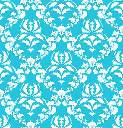 Damask seamless vector background.  For easy making seamless pattern just drag all group into swatches bar, and use it for filling any contours. Stock Photo - Budget Royalty-Free & Subscription, Code: 400-04712187