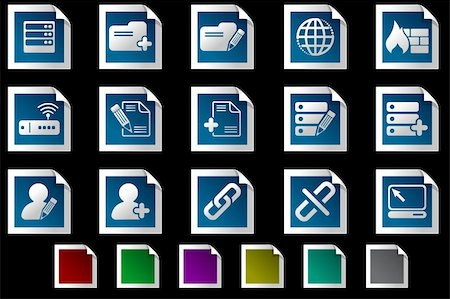 Database and Network icons Photo frame series Stock Photo - Budget Royalty-Free & Subscription, Code: 400-04726407