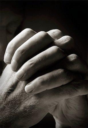 Man Praying Stock Photo - Budget Royalty-Free & Subscription, Code: 400-04727837