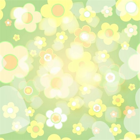 simsearch:400-04744132,k - Seamless tile-able flower background - vector wrapping paper pattern Stock Photo - Budget Royalty-Free & Subscription, Code: 400-04727993