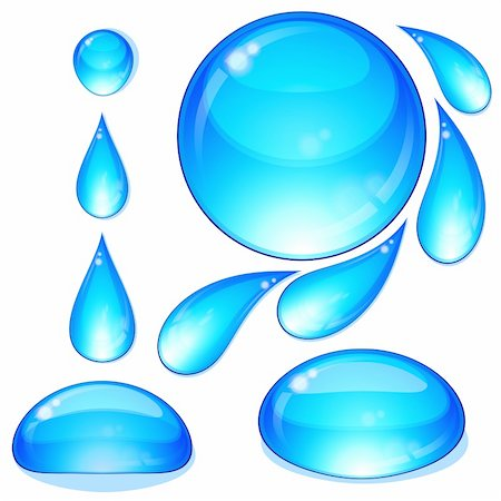 Eps Set of water drops and bubbles. Illustration for your design. Stock Photo - Budget Royalty-Free & Subscription, Code: 400-04728551