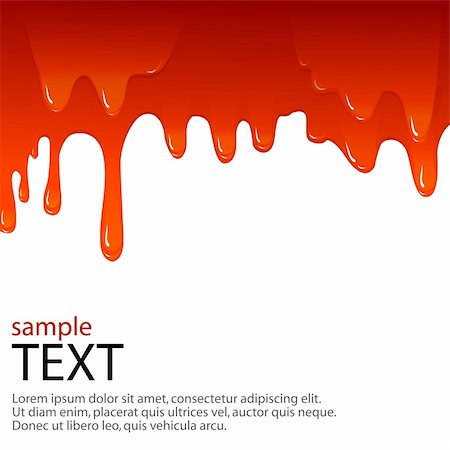 vector background with dripping of blood and sample text Stock Photo - Budget Royalty-Free & Subscription, Code: 400-04720468