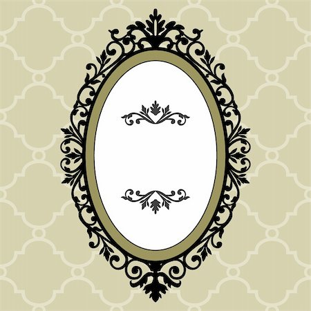 Illustration of an ornate and decorative frame on the retro background, full scalable vector graphic for easy editing and color change, included Eps v8 and 300 dpi JPG Stock Photo - Budget Royalty-Free & Subscription, Code: 400-04723315
