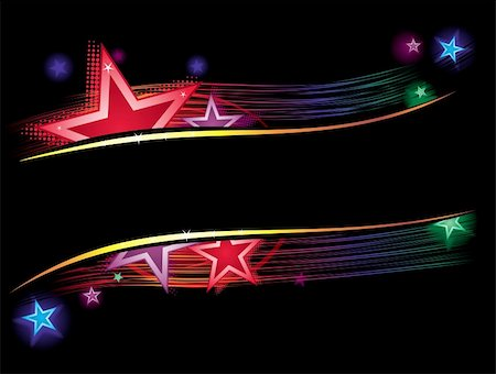 Background with stars and lines in vibrant colors Stock Photo - Budget Royalty-Free & Subscription, Code: 400-04735799