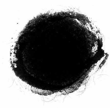 black circle inkblot in a white background, black circle inkblot in a white background Stock Photo - Budget Royalty-Free & Subscription, Code: 400-04735821