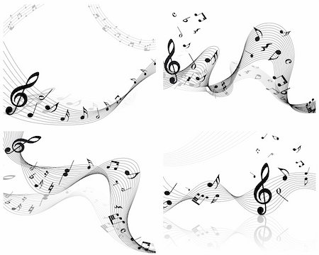 Vector musical notes staff background for design use Stock Photo - Budget Royalty-Free & Subscription, Code: 400-04737017