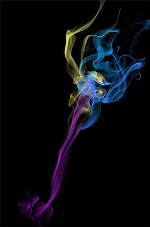 simsearch:400-05119507,k - Colored smoke on black background Stock Photo - Budget Royalty-Free & Subscription, Code: 400-04738403