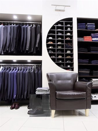 Luxury men's clothes and accessories in modern shop Stock Photo - Budget Royalty-Free & Subscription, Code: 400-04739253