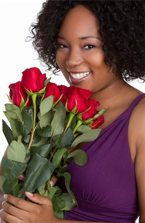 dozen roses - Woman holding red roses Stock Photo - Budget Royalty-Free & Subscription, Code: 400-04739809