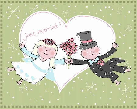 Wedding announcement, vector Stock Photo - Budget Royalty-Free & Subscription, Code: 400-04730427