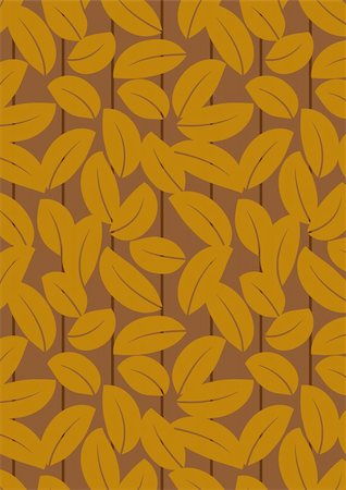 simsearch:400-04765926,k - Seamless dark brown leaf background - vector include pattern source - easy to modify Stock Photo - Budget Royalty-Free & Subscription, Code: 400-04744131