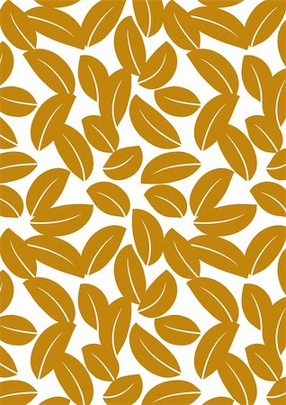 seamless floral - Seamless brown leaf background - vector include pattern source - easy to modify Stock Photo - Budget Royalty-Free & Subscription, Code: 400-04744132