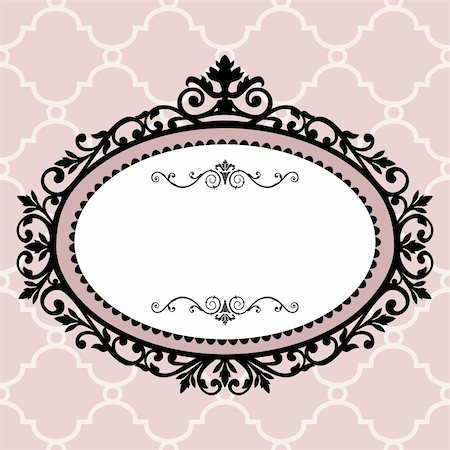 Decorative pink frame on the retro background with space for your text, full scalable vector graphic for easy editing and color change, included Eps v8 and 300 dpi JPG Stock Photo - Budget Royalty-Free & Subscription, Code: 400-04746610