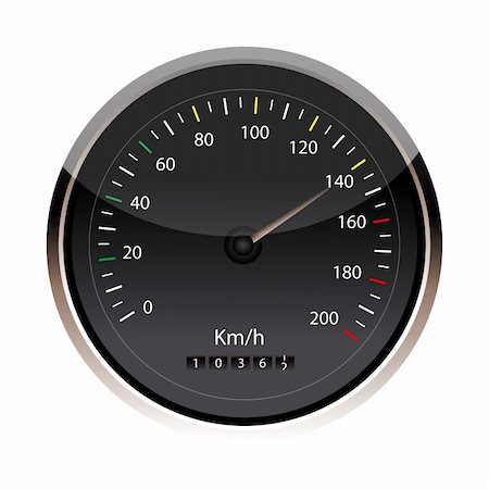 illustration of speedometer in an isolated background Stock Photo - Budget Royalty-Free & Subscription, Code: 400-04748779