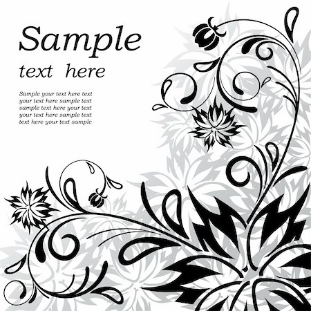 vector beautiful abstract floral background Stock Photo - Budget Royalty-Free & Subscription, Code: 400-04748810