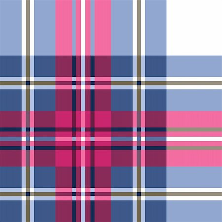 elakwasniewski (artist) - Blue and pink plaid fabric textile pattern, seamless repeat design. Stock Photo - Budget Royalty-Free & Subscription, Code: 400-04749607