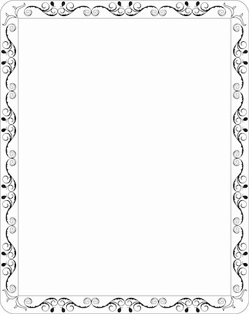 swirly - Illustration blank floral frame border. Vector Stock Photo - Budget Royalty-Free & Subscription, Code: 400-04742690