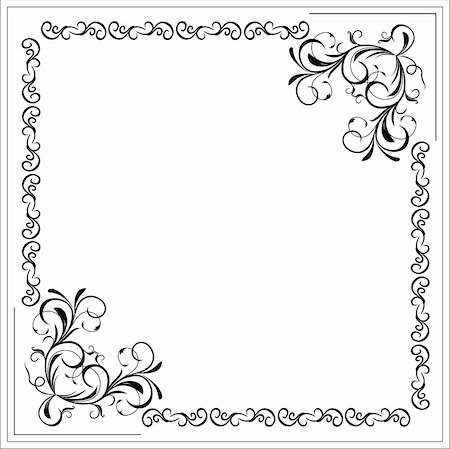 swirly - Illustration blank floral frame border. Vector Stock Photo - Budget Royalty-Free & Subscription, Code: 400-04742692