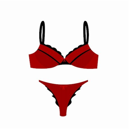 Realistic illustration of women's sexy lingerie. Vector Stock Photo - Budget Royalty-Free & Subscription, Code: 400-04742836