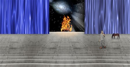 High Resolution  Surreal Stage Stock Photo - Budget Royalty-Free & Subscription, Code: 400-04743011