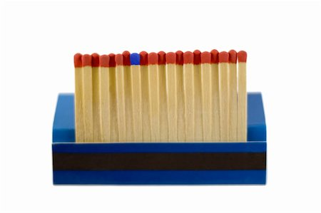 matches row - match leader isolated on white background Stock Photo - Budget Royalty-Free & Subscription, Code: 400-04743800