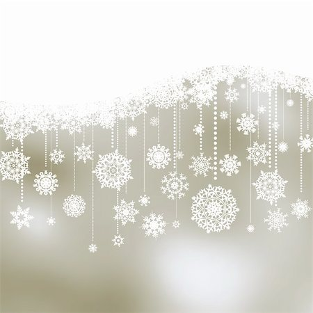 sparks with white background - Christmas background with snowflakes. EPS 8 vector file included Stock Photo - Budget Royalty-Free & Subscription, Code: 400-04755981