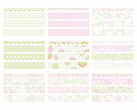 family image and confetti - Set of elements for design. Pink and green Banners. Stock Photo - Budget Royalty-Free & Subscription, Code: 400-04751585