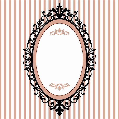 Decorative oval frame on the pink background with space for your text Stock Photo - Budget Royalty-Free & Subscription, Code: 400-04753915