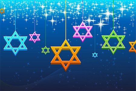illustration of multicolorful hanukkah card Stock Photo - Budget Royalty-Free & Subscription, Code: 400-04764081