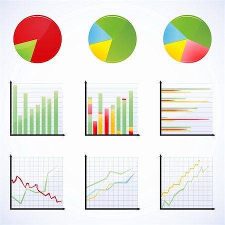 illustration of different graphs Stock Photo - Budget Royalty-Free & Subscription, Code: 400-04764105
