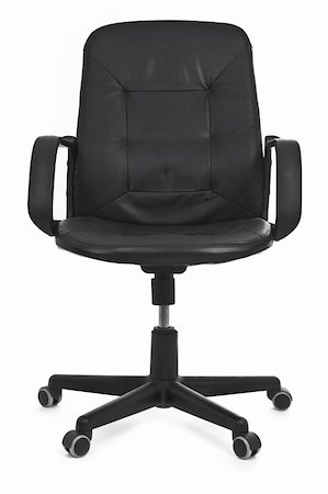 leather chair on white background, minimal natural shadow under it Stock Photo - Budget Royalty-Free & Subscription, Code: 400-04764185