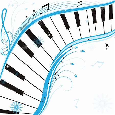 Winter music, christmas background . Vector illustration. Stock Photo - Budget Royalty-Free & Subscription, Code: 400-04764494