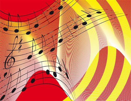 Bright background with musical notes. Vector illustration. Vector art in Adobe illustrator EPS format, compressed in a zip file. The different graphics are all on separate layers so they can easily be moved or edited individually. The document can be scaled to any size without loss of quality. Stock Photo - Budget Royalty-Free & Subscription, Code: 400-04765771