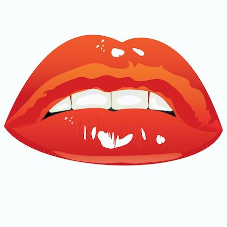 simsearch:400-04801287,k - illustration. Sexual lips women painted red lipstick Stock Photo - Budget Royalty-Free & Subscription, Code: 400-04765968