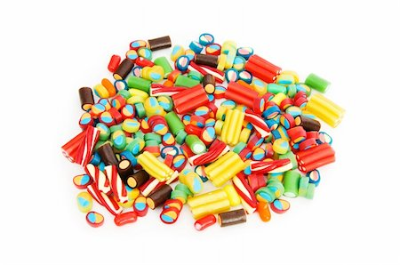simsearch:400-04344039,k - Colourful sweets isolated on the white background Stock Photo - Budget Royalty-Free & Subscription, Code: 400-04766103
