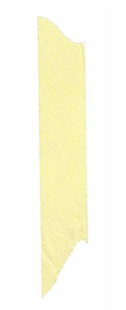 long stripe of yellow paper tape, edges are naturaly frayed Stock Photo - Budget Royalty-Free & Subscription, Code: 400-04766364