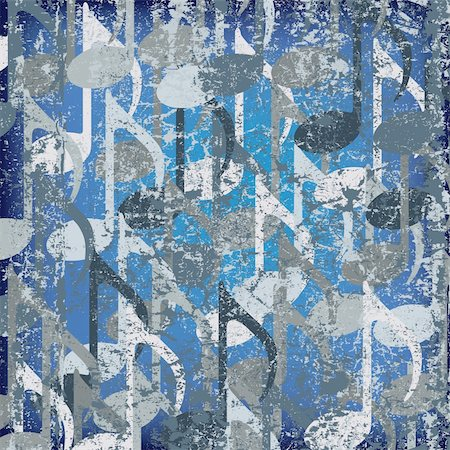 abstract cracked background blue musical note Stock Photo - Budget Royalty-Free & Subscription, Code: 400-04767320