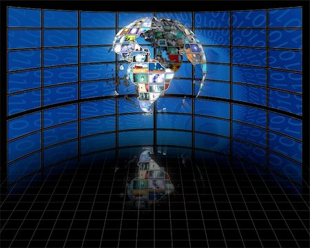 rolffimages (artist) - Planet earth sphere of video screens Stock Photo - Budget Royalty-Free & Subscription, Code: 400-04767733