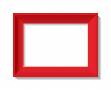 empty photo frame - vector illustration Stock Photo - Budget Royalty-Free & Subscription, Code: 400-04768206