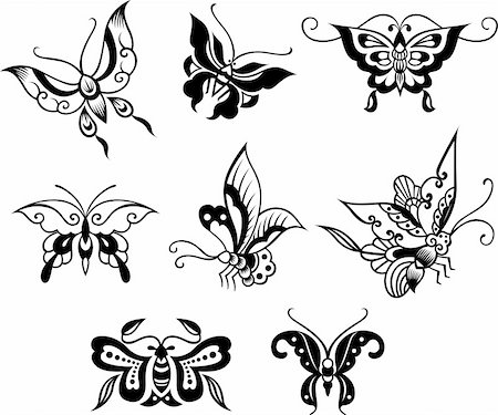 butterfly floral design Stock Photo - Budget Royalty-Free & Subscription, Code: 400-04761567