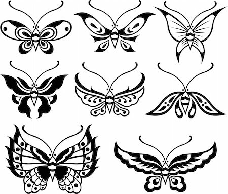 butterfly floral design Stock Photo - Budget Royalty-Free & Subscription, Code: 400-04761568