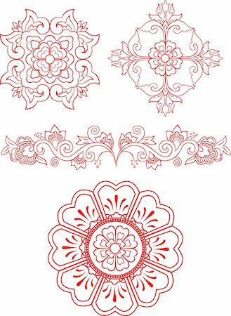 floral pattern design Stock Photo - Budget Royalty-Free & Subscription, Code: 400-04761572