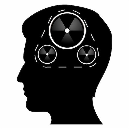 illustratin of mechanics of human mind on isolated background Stock Photo - Budget Royalty-Free & Subscription, Code: 400-04763906